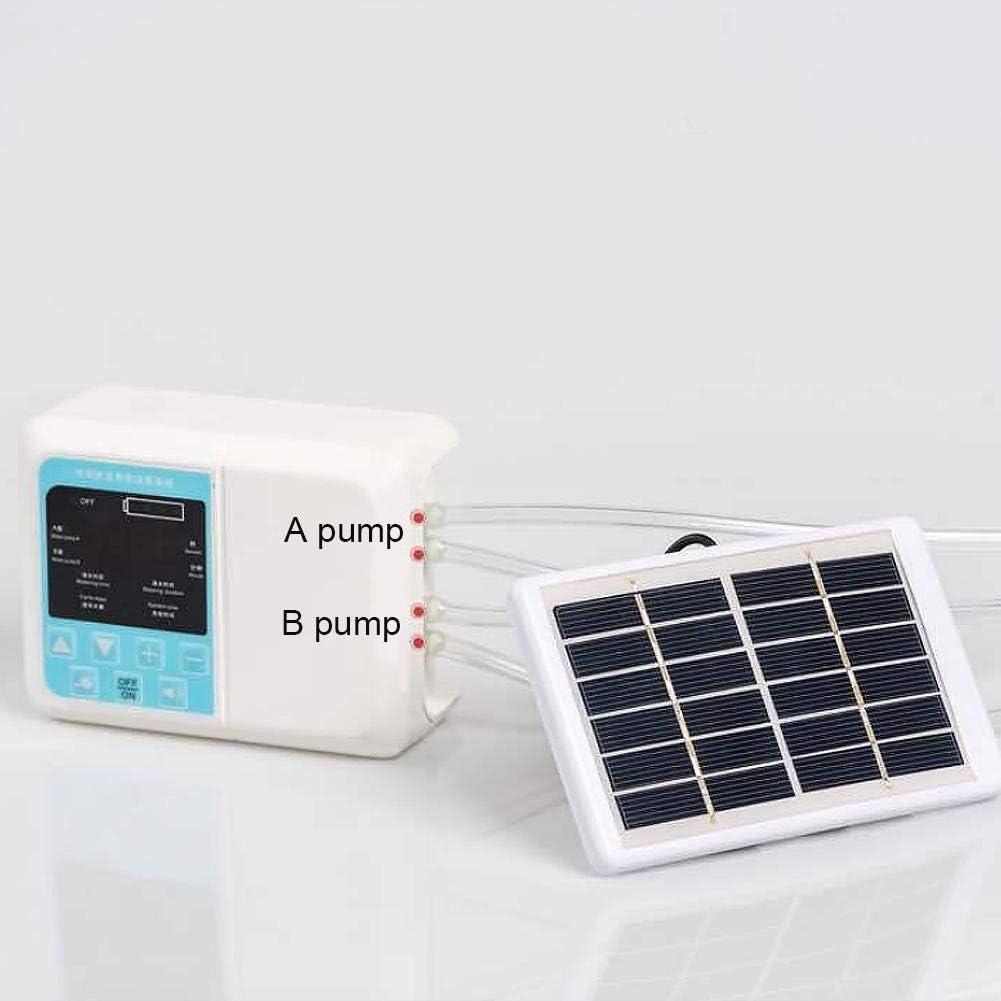 Kit de riego por goteo automático, sistema de riego de goteo de energía solar para plantas en maceta Sistema de riego automático con temporizador para jardines de interior / plantas en macetas