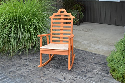 A & L Furniture 685C-UNFINISHED Marlboro Porch Rocker Chair, Unfinished