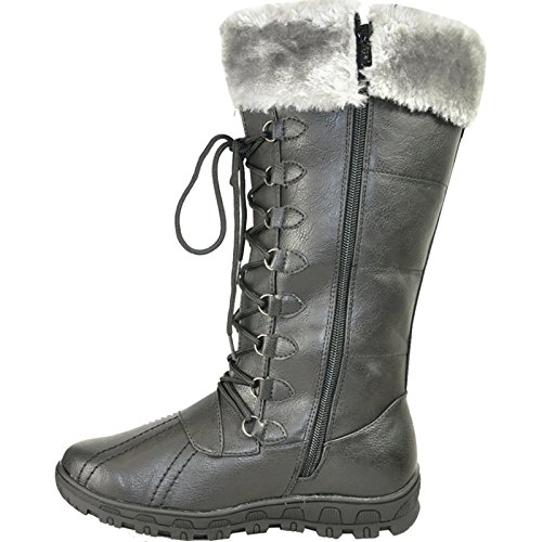 KOZI Women WINTER Boots SG4484 Fur Lining with a Round Toe Black 38M 2wiJ8