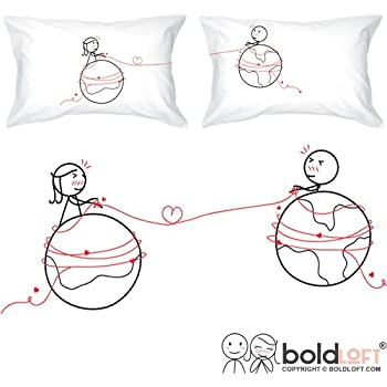 BOLDLOFT You Are Worth Every Mile Couples Pillowcases-Long Distance Relationships Gifts, Long Distance Gifts, His and Hers Gifts for Him, Her, LDR Couples, Valentines Day Gifts, I Miss You Gifts