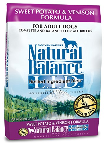 Natural Balance L.I.D. Limited Ingredient Diets Sweet Potato & Venison Formula Dry Dog Food, 26-Pound