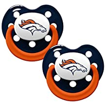 NFL Denver Broncos Football Baby Pacifiers - Set of 2