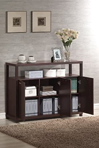 Acme 08278 Hill Cabinet with Three Doors, Espresso Finish - Hill Home Office Collection
