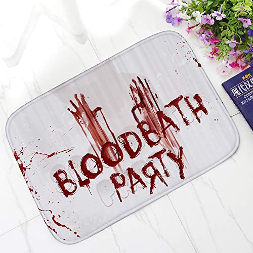 Non-Slip Carpet, Yezijin Blood Footprint Bath Mat Door Mat Scary Horror Style Halloween Decoration Hot 16x24 Inch