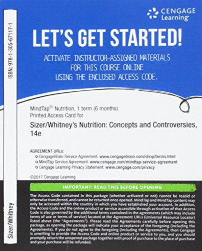 Pdf Health MindTap Nutrition, 1 term (6 months) Printed Access Card for Sizer/Whitney's Nutrition: Concepts and Controversies, 14th