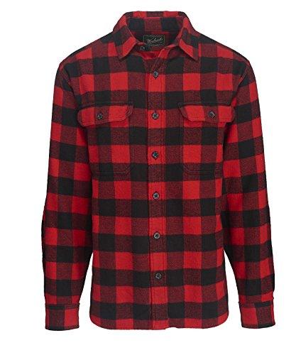 - Woolrich Men's Oxbow Bend Flannel Shirt, Black/Red, XXLarge