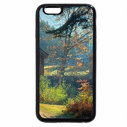 iPhone 6S / iPhone 6 Case (Black) beautiful tiny wooden bridge