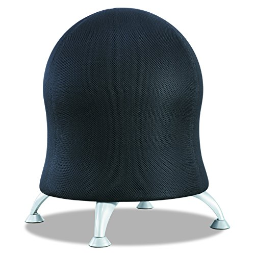 - Safco Products Zenergy Ball Chair , Black, Low Profile, Active Seating, Steel Legs
