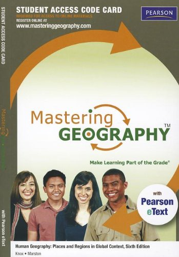 Price comparison product image MasteringGeography with Pearson eText -- Standalone Access Card -- for Human Geography: Places and Regions in Global Context (6th Edition) (Mastering Geography (Access Codes))