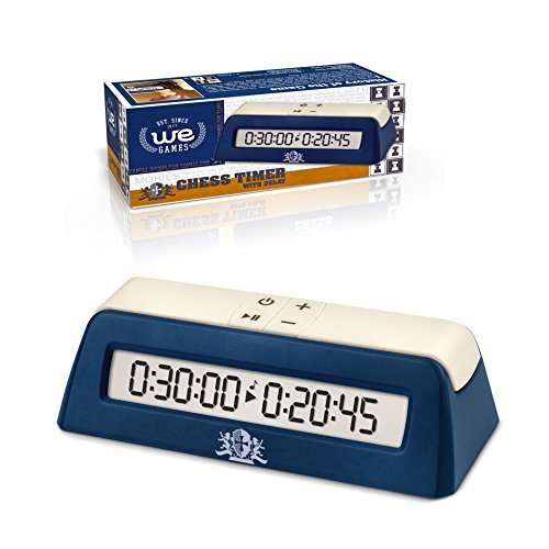 (WE Games Digital Chess Clock/Game Timer with delay Button)