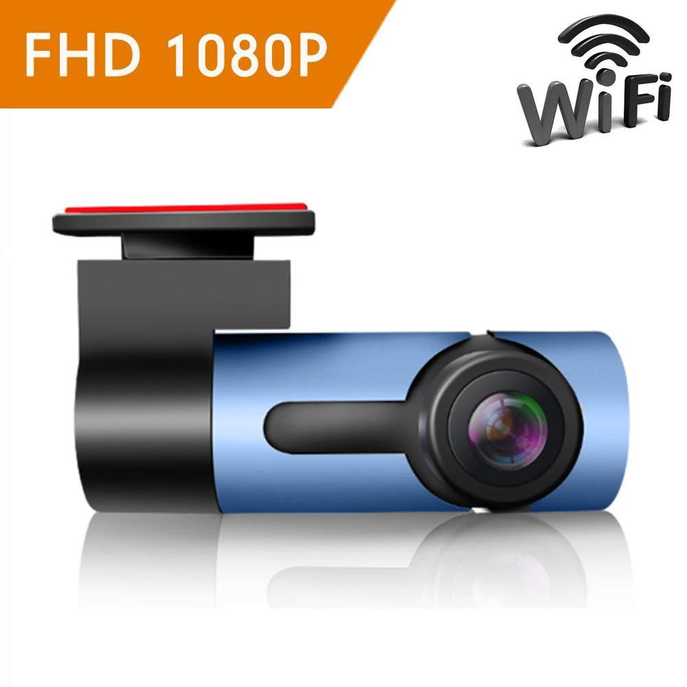 ZYWX Dash Cam (Driving Recorder) 360° Panorama, Full HD 1080P, Parking Monitoring, Loop Recording, Night Vision, One-Click Capture, Hidden Camera,Blue