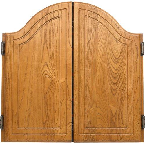 CueStix International Arched Oak Dart Board Cabinet 40-0255