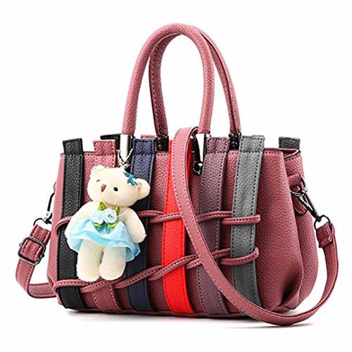 Bovake - Bolso mochila  de Caucho para mujer Red