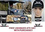 MADE IN THE USA! SuperATV Kubota RTV 900 Scratch Resistant Half Windshield and Free Unhinged ATV Hat!