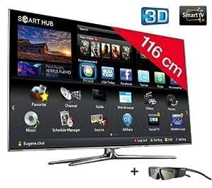 "Samsung UE46D7000LS - Televisor (116,84 cm (46""), Full HD, 1920 x 1080 Pixeles, Digital, DVB-C, DVB-S2, DVB-T, 20W) Negro"