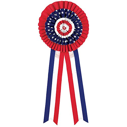 Patriotic Themed Costume Ideas (Stars and Stripes Fourth of July Party Rosette Bow Decoration, velvet, 26 1/2