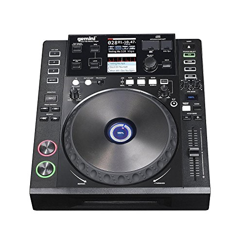 Gemini CDJ Series CDJ-700 Professional Audio DJ Full Color Touch Screen Media Controller with CD, SD, and USB Compatibility