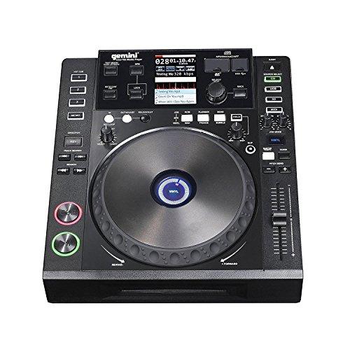Gemini CDJ Series CDJ-700 Professional Audio DJ Full Color Touch Screen Media Controller with CD, SD, and USB Compatibility (Cd Dj Gemini Player)
