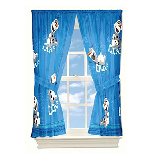 Disney Frozen Olaf Drapery Panels, Set of 2