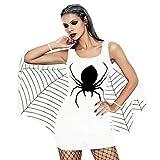Perman Ladies Halloween Clothing, Halloween Bat Cosplay Spider Printing Sleeveless Tank Mini Dress Women Clearance Sale (US 2/CN S,White)