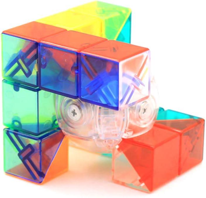 RainbowBox Transparent Geometric Magic Cube Geometric Speed Cube Educational Puzzles Toys Brain Teasers Type B