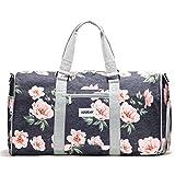 """Vooray Trepic 21"""" Weekender Duffel Bag with Shoe Pocket, Rose Floral Navy"""