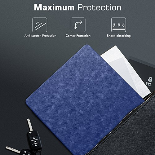 MoKo Case Fits All-New Kindle Oasis (9th and 10th Generation ONLY, 2017 and 2019 Release), Slim Fit Premium PU Leather Protective Cover with Auto Wake/Sleep - Indigo