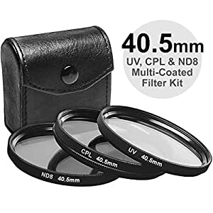 Precision Design 3-Piece Multi-Coated HD Pro Filter Kit (40.5mm UV/CPL/ND8)