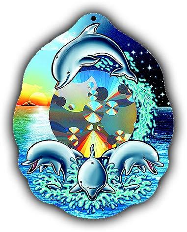 (Rainbow Symphony Rainbow Sun Catchers - Dolphin Sun Catcher - Holographic Rainbow Makers)
