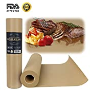 "IEOKE Butcher Kraft Paper Roll - 18 "" x 175' (2100"") Wrapping Paper for Beef Brisket FDA Approved Perfect for Smoking BBQ Meats Cooking Paper in Durable Carry Tube"