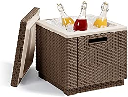 Keter - Mesa nevera para jardín Ice Cube, Color capuchino: Amazon ...