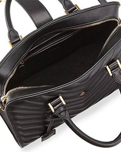 YSL Saint Laurent Small Cabas Monogram Shoulder Bag in Black ...
