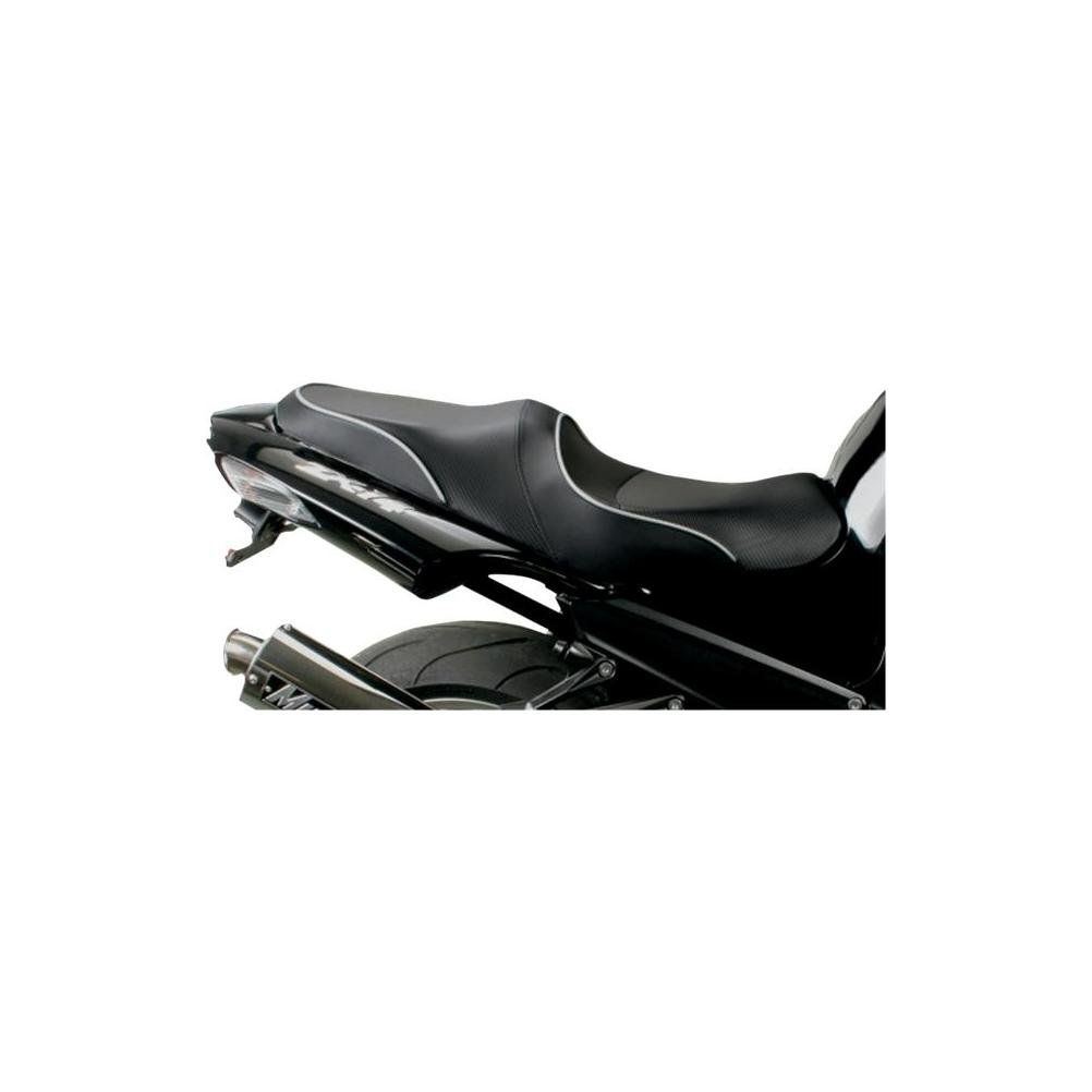 Sargent World Sport Perf Seat Std Height Black W/Black for Kawasaki ZX-14 08-11