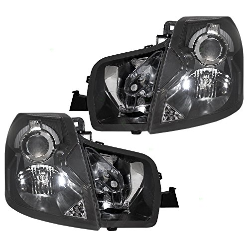 Driver and Passenger Halogen Headlights Headlamps Replacement for Cadillac 15826015 15826014 (2005 Cts Headlight Assembly compare prices)