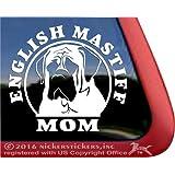 English Mastiff Mom Vinyl Window Decal Sticker