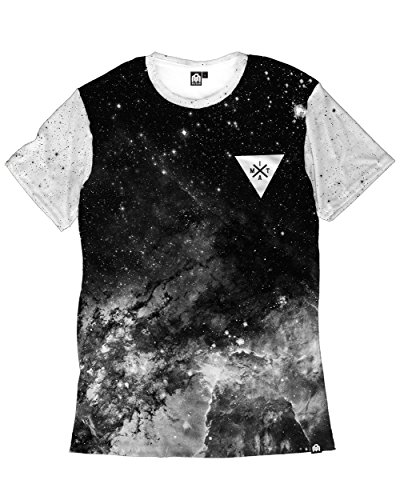 INTO THE AM Space Minimalist Men's Tee (3X-Large, - Designer Mens Outlet