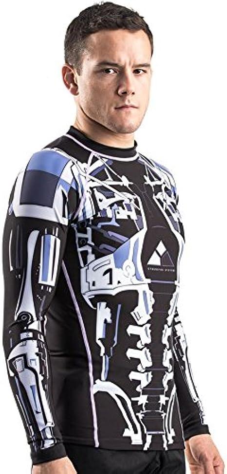 Fusion Fight Gear Terminator 2 Endoskeleton BJJ Rash Guard Compression Shirt