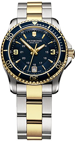 Victorinox Maverick Womens Analog Swiss Quartz Watch with Stainless Steel Bracelet V241790