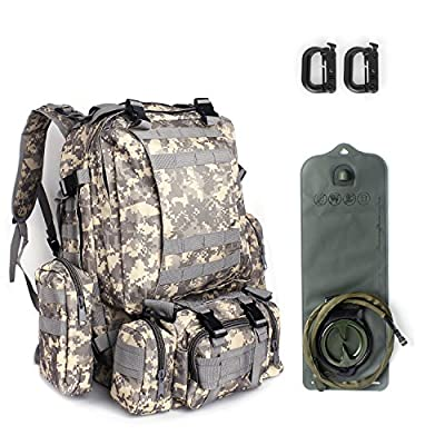 Military Army Patrol Molle Assault Pack Tactical Combat Rucksack Backpack Bag Gear for Camping, Hiking, Trekking, Sports, Climbing, Travel