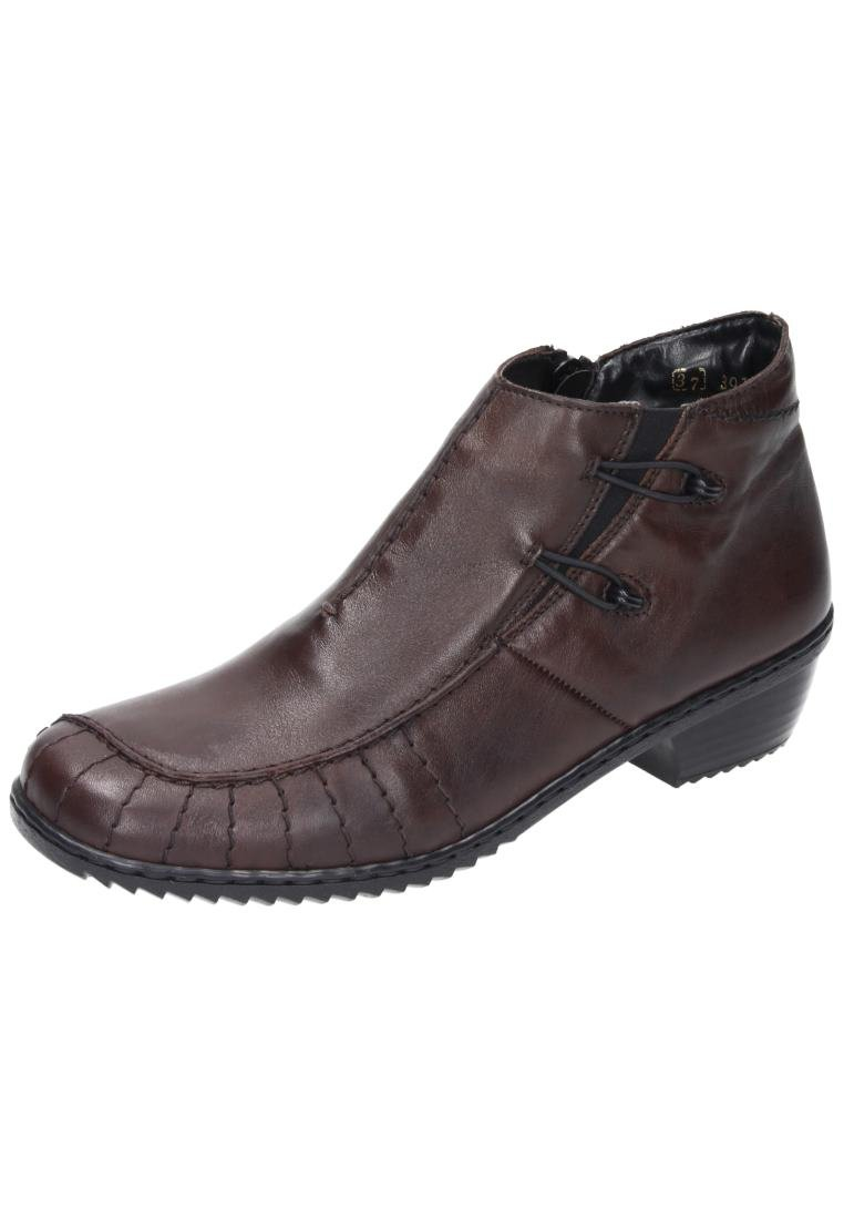 Rieker Girls' A Wter Boot I Will Pass Dark Brown Geprägtes Leder Uniform Dress Shoes 42