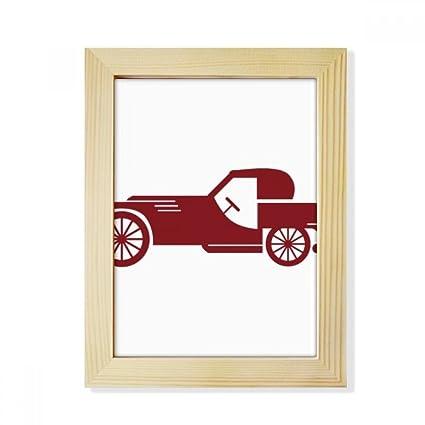 Amazon.com - DIYthinker Geometric Classic Red Cars Silhouette ...
