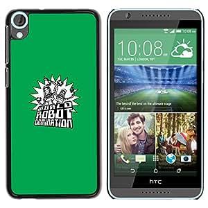 // PHONE CASE GIFT // Duro Estuche protector PC Cáscara Plástico Carcasa Funda Hard Protective Case for HTC Desire 820 / Mundial Robot Dominación /