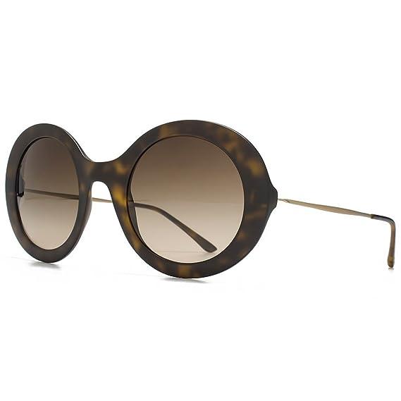 574b9d1dfac9 Giorgio Armani Super Round Sunglasses in Matte Havana AR8068 508913 51 51  Brown Gradient  Amazon.co.uk  Clothing