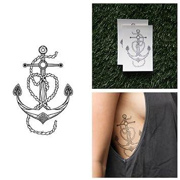 0796f377f767e Amazon.com : Tattify Vintage Anchor Temporary Tattoo - Leviathan (Set of 2)  - Other Styles Available - Fashionable Temporary Tattoos : Beauty