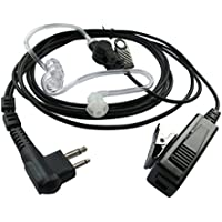 Two Way Radio Earpiece for Motorola GP300 CP040 CP140 CP185 CP200 CP200D PR400 CLS1110 CLS1410 RMU2040 2 Pin PTT Covert Acoustic Tube Mic
