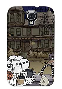 New Tpu House Hard Case Premium Galaxy S4 Skin Case Cover(cartoon Network Offer Treat For Halloween) For Christmas Gift