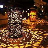 2 Pcs,Solar Lights Retro Candlestick Solar Table lamp for Indoor Outdoor Home Antique Table lamp,Solar Powered Lights Garden Yard Art Decor (Color: Silver Grey)