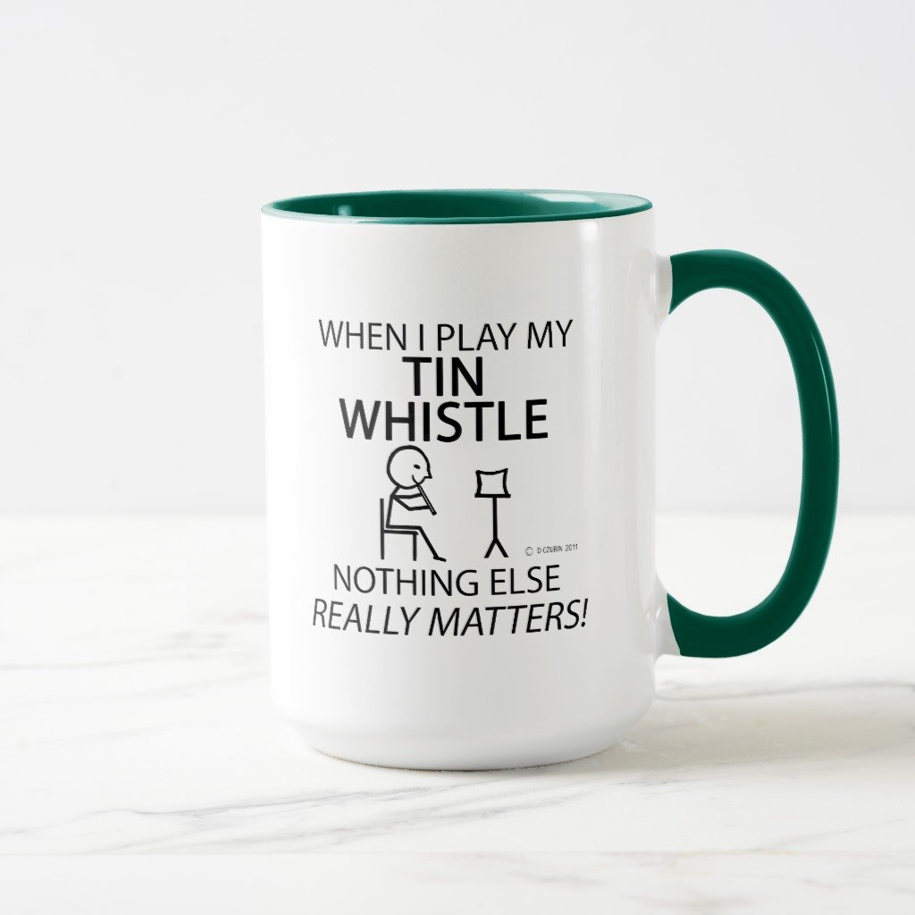 Zazzle Tin Whistle Nothing Else Mattersマグ 15 oz, Combo Mug グリーン dac894a4-062d-47f4-2809-6c23f53df635 B078HDGR5C  ハンターグリーン 15 oz, Combo Mug