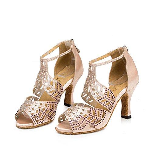 de Zapatillas Baile Sandalia Noche de Un Salón Baile de para Tacones Gamuza Verano Mujer cuadradas de Performance Altos Hebilla Fiesta Zapatos Latinos XUE y Zapatos Personalizables Social Zapatos wF0Bq0Xa