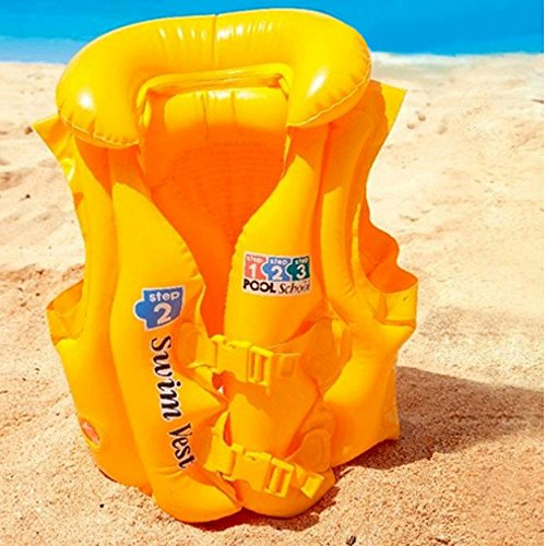 Price comparison product image LUCKSTAR® Floating Life Jacket,  Swimming Aid Inflatable Floating Life Jacket Vest Inflatable Swim Vest For Children Kids